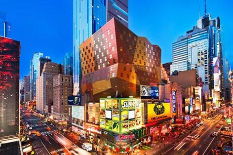 ウェスティン・タイムズスクエア(35階以上のプレミアムデラックスルーム)に滞在