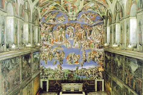 ミケランジェロの大作「最後の審判」