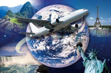 ビジネスクラス航空券利用 世界横断26日間(イメージ)