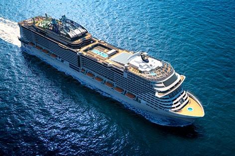新造船MSCグランディオーサで航く 地中海4カ国周遊クルーズ 10日間