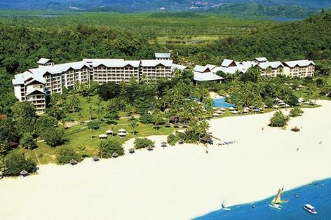 海外旅行 ボルネオ島 シャングリ・ラ ラサリア・リゾート&スパ ホテル外観(イメージ)美しい南シナ海を望むパンタイダリットビーチに位置