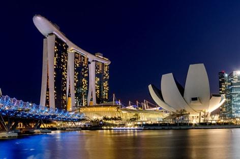 美しいシンガポールの夜景