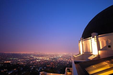 グリフィス天文台から見る夜景に感動