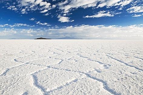 ウユニ塩湖(乾季)