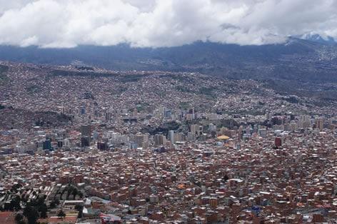 ボリビアの首都 ラパス