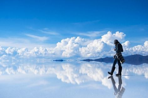 ウユニ塩湖(雨季)