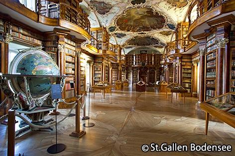 添乗員同行の旅 オランダ・ベルギー ザンクトガレン修道院図書館