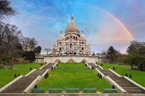 パリのモンマルトル