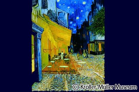 ゴッホ作「夜のカフェテリア」