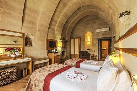洞窟ホテル 客室一例