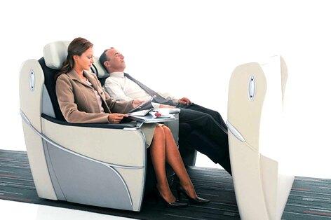 エールフランス航空ビジネスクラスシート一例