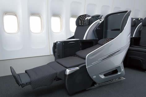日本航空シート一例