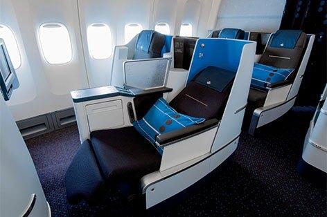 KLMオランダ航空 ビジネスクラスシート一例
