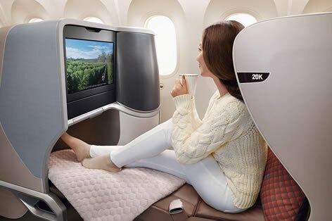 シンガポール航空_ビジネスクラスシート一例